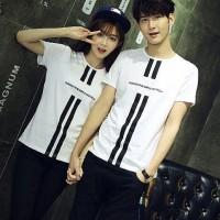 Baju Couple Kaos Oblong Pasangan Soulmate Simple Fresh Putih 11159