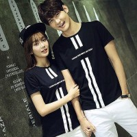 Baju Couple Kaos Oblong Pasangan Soulmate Simple Fresh Hitam 11160