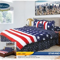 California - Bed Cover King Set Star And Stripe