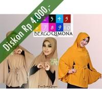 Hijab/Jilbab Bergo Qimona/Kimono Premium