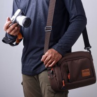 Tas kamera SLR mirrorless eibag 1758 coklat - camera bag
