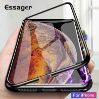 Casing Essager Magnetic Adsorption Case For iPhone Xs Max X R S 8 7 6