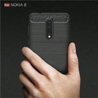 Case Nokia 8 2018 Carbon Fiber Casing Softcase Nokia 8