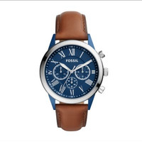Jam Tangan Fossil Man's Flynn Stainless Stell & Leather 43mm BQ2155 - Navy