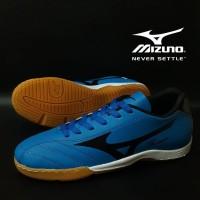 Sepatu Futsal Mizuno Fortuna Biru Hitam Import Sport