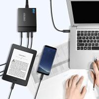CHOETECH 72W 4 Ports USB C Charger with 60W PD CHOETECH PD72-1C3U