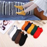 Felikinlife Kaos Kaki Ankle Warna Permen Polos untuk Wanita