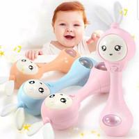 Rattle tongkat bayi dgn musik, lampu teether.mainan kerincingan gengam
