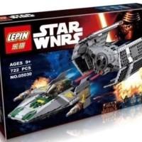 NO BOX Brick Lepin 05030 Star Wars Vader's Tie Advanced vs A-Wing S.