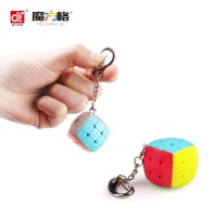 Rubik 3x3 Qiyi Key Chain Gantungan Kunci Stickerless