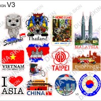 Travel Label / Sticker Koper Rimowa Design V3 Country Logo Negara
