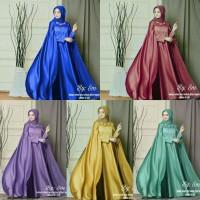 Gamis Cape Brokat Mix Valvet Gamis Syari Baju Wanita Muslimah