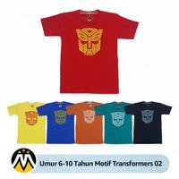 [Umur 6-10 Tahun] - Baju Kaos Anak - Motif Transformers 02