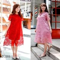 PREMIUM Mayestic Lace Dress Formal Pakaian Wanita DS1003
