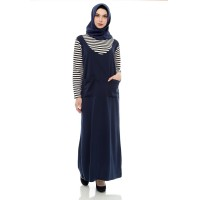 Mybamus Base Stripe With Lacost Dress Navy M12006 R2S2