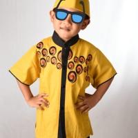 Baju muslim setelan anak laki-laki katun bordir size 1-3 tahun