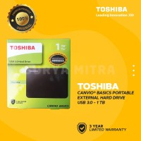 HDD Eksternal Toshiba Canvio Basic 1tb HD / Hardisk / Harddisk