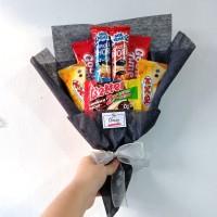 Snack Bouquet / Bucket Buket Bunga Snack Wisuda Graduation