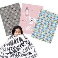 KATALOG Sz Todler (100x150) selimut custom anak / selimut custom bayi