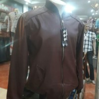 Jaket Kulit Red Move Big Size