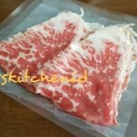 Daging Sapi AUS Premium Grainfed Chuck crest Sliced MB 4+ 250gr