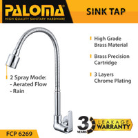 PALOMA FCP 6269 Keran Sink Fleksibel Angsa Cuci Piring Dapur Kran Air