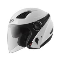 Helm Half Face zeus 610 White, not nolan, airoh, agv, kyt, ink