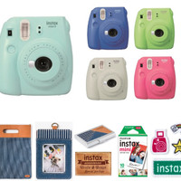 Fujifilm Instax Mini 9 Instant Camera Denim Package