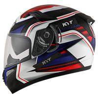 Helm KYT K2rider Motif Carbon White Blue K2 Rider seri 2 Full Face