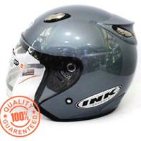 Helm INK Centro SNI warna Abu Grey Silver - bukan KYT, NHK, Bogo, Anak