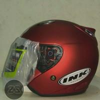 Helm INK Centro SNI warna Maroon Doff - bukan KYT - NHK - Bogo - Anak