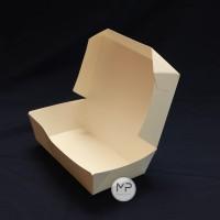 PAPER TRAY LUNCH BOX TUTUP Medium / KOTAK WADAH KERTAS Medium - 10pcs