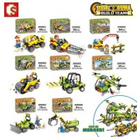 Brick Sembo 606001 - 606008 Build Team 4 in 1 Set isi 8 bh model -