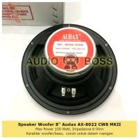 "Speaker Woofer 8"" 8 inch 8 in Audax AX-8022 CW8 MKII AX 8022 AX8022"