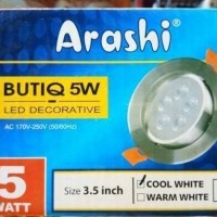 Lampu Ceiling Led Decorative Sorot Spot 5w Putih dan Warm White