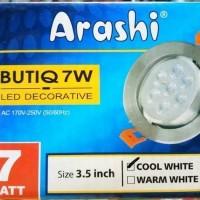 Lampu Ceiling Led Decorative Sorot Spot 7w Putih dan Warm white