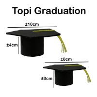 Topi Wisuda M- Graduation - Kado - Hadiah - Bouquet - toga