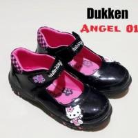 Sepatu Anak Perempuan Hello Kitty Dukken Angel-01 - 26, Hitam
