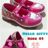 Sepatu Anak Perempuan Kabocha Hello Kitty Full Pink