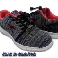 Sepatu Anak Dia Dora Graz Jr. Girl. Black Pink. Diacx71208Bp. 100%Ori