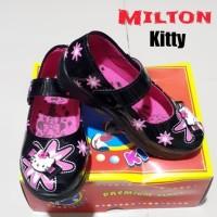 Sepatu Anak Perempuan Milton Kitty Samping - 28, Hitam