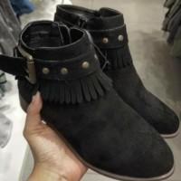 Sepatu Anak Cantik Keren Hitam Hnm Original Branded