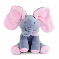 READY Sing & Peekaboo Elephant Doll (Boneka Gajah Cilukba & Nyanyi)