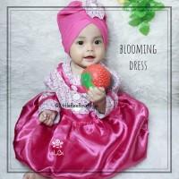 Blooming Dress - Baju Pesta Kekinian - Baju Muslim Balita Size 6-12bln