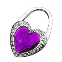 Eksklusif Stainless HEART Shape Crystal Bag Hanger-cocok u/Souvenir!