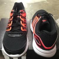 New Adidas Duramo 6 Men Hitam Strip Merah Size 40 2/3. Sepatu Running