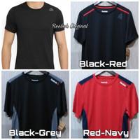 Reebok Shirt Pria Man Original Baju Atasan Kaos Olahraga Laki Laki Gym