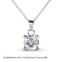 Sweetheart Pendant - Kalung Crystal Swarovski® by Her Jewellery