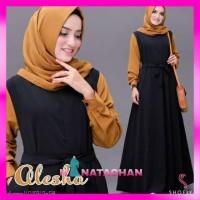 Alessa Maxi Dress / Baju Gamis Wanita Remaja Muslim Terbaru Kekinian