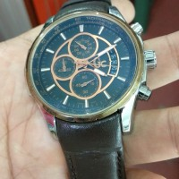 jam tangan GC quartz chronograph stainles steel